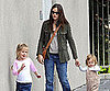 Slide Picture of Jennifer Garner at Library With Girls