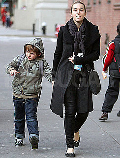 Pictures of Kate Winslet and Son Joe Mendes in NYC
