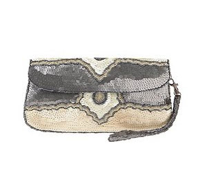 This will lend sparkle, but in a subtler way.  Ecote Beaded Clutch ($38)