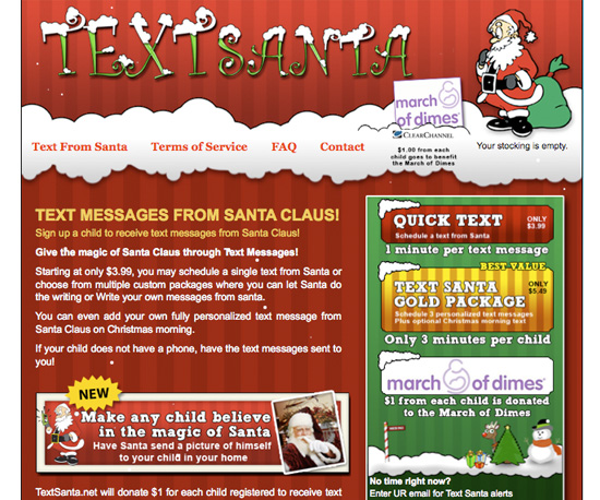 Text Santa
