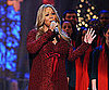 Slide Picture of Mariah Carey Performing With Baby Bump