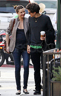 Pictures of Orlando Bloom and Pregnant Miranda Kerr Out to Lunch
