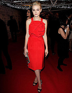 Pictures of Carey Mulligan in Red Prabal Gurung at British Independent Film Awards
