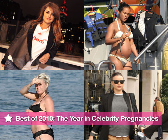 Pictures of Pregnant Celebrities Penelope Cruz, Pink, Mariah Carey, and More in 2010