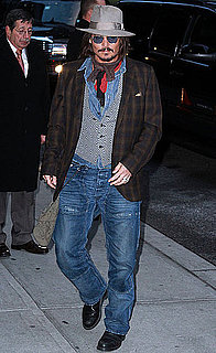 Pictures of Johnny Depp and Video Clip From David Letterman