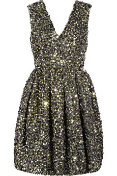 Adam Folded-Sequin Silk Organza Dress ($1,495)