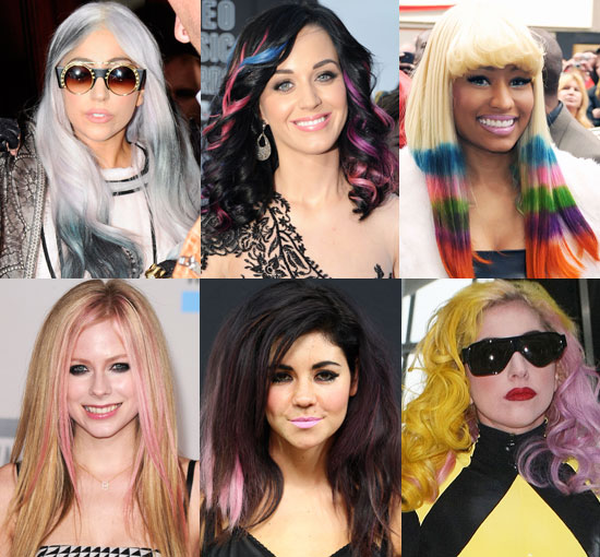 Katy Perry, Lady GaGa, Avril Lavigne, Nicki Minaj Hair