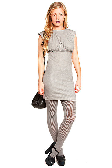 Alanna fitted jersey dress in houndstooth