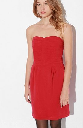 Sparkle & Fade Chiffon Pleated Bodice Strapless ($69)