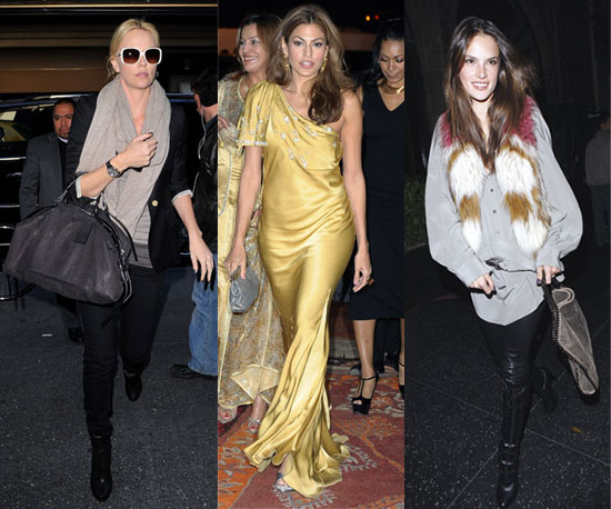 Top 10 Celebrity Looks of the Week — Charlize, Eva, Alessandra!
