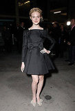Elle Fanning — Dakota's little sis — looks simply lovely in her bow LBD and sparkly bow pumps. Style star on the rise I think!