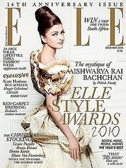 Aishwarya Rai covers Elle India-december 2010