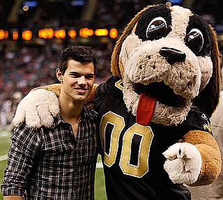 Pictures of Taylor Lautner and Miley Cyrus at the New Orleans Saints Game