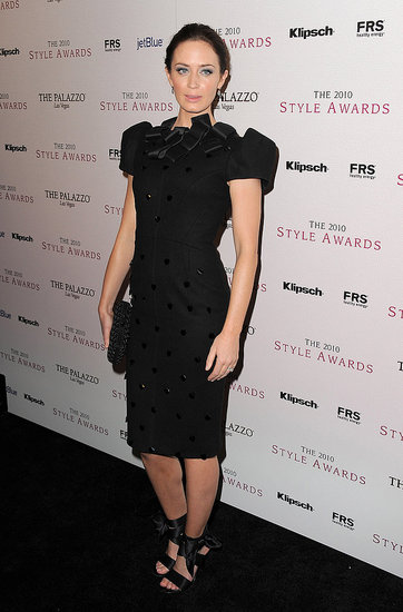 Emily Blunt worked the red carpet in a playful bow-adorned and polka-dotted Roksanda Ilincic dress.