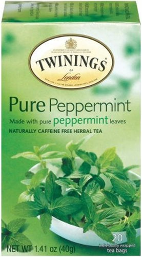 Peppermint tea with sugar