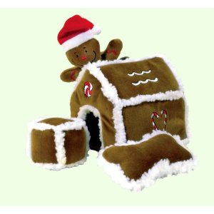 Kyjen Hide-A-Toy Gingerbread House Puzzle Plush Interactive Dog Toy ($17)
