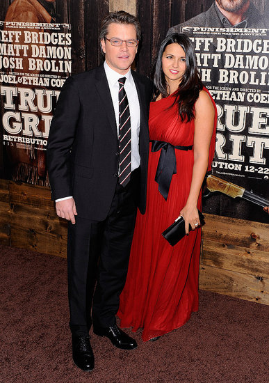 Pictures of Matt Damon, Luciana Damon, Jeff Bridges at NYC True Grit ...