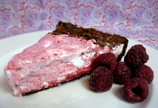 Frozen Raspberry Cream Pie