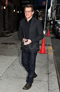 Pictures and Video of Matt Damon on David Letterman