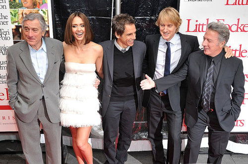 Pictures of Jessica Alba, Owen Wilson, Ben Stiller, Robert De Niro, and Dustin Hoffman at the Premiere of Little Fockers