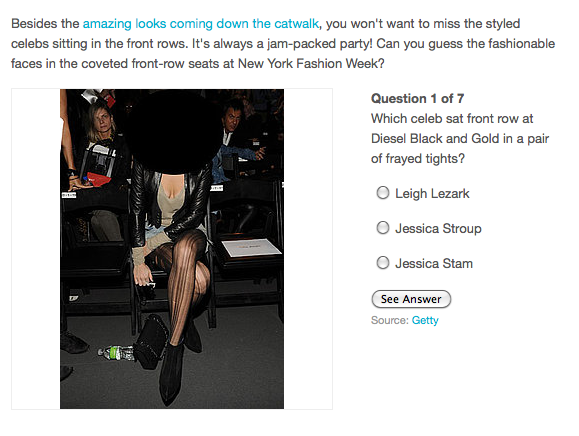 Guess the Fashion Week Celeb Sitting Front Row!