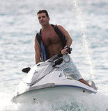 Simon Cowell Goes Shirtless For a Jet-Skiing Holiday