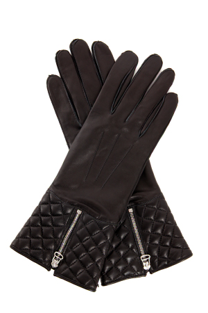 Rag & Bone Quilted Zip Gloves in Noir ($275)