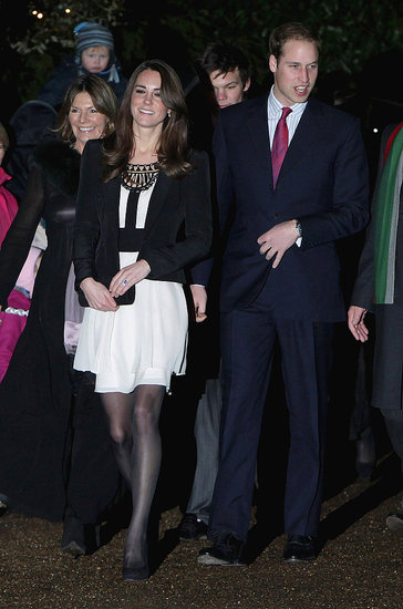 Kate Middleton Flashes Her Engagement Ring With William at Christmas Event!