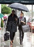 Heidi and Seal Shop Chanel and Prada Under an Umbrella For Two