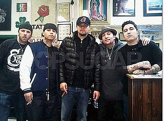Pictures of Leonardo DiCaprio at a Tattoo Parlor in Hollywood