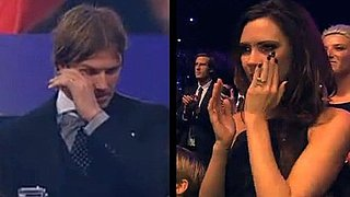 Video of David Beckham and Victoria Beckham Crying Over the BBC Sports Personality Award 2010-12-20 11:35:00