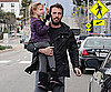 Slide Picture of Ben and Violet Affleck Running Errands in LA