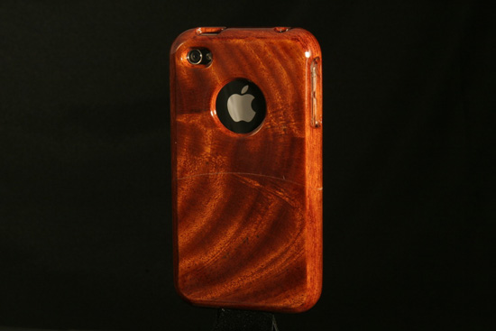 Handcrafted Mahogany Wood iPhone 4 Case ($90)