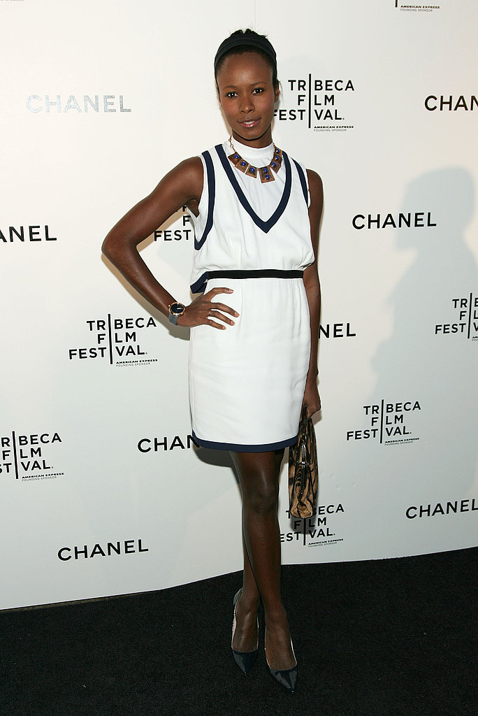 Shala Monroque in Chanel at the Chanel Tribeca Film Festival dinner.