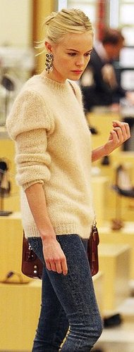 Kate Bosworth in Soft Mohair Sweater While Shopping