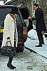 Pictures of Kate Moss and Jamie Hince in the Snow in Cotswolds For Christmas