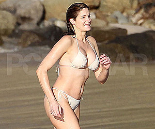 Slide Picture of Stephanie Seymour Wearing a Bikini in St. Barts