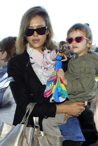 Pictures of Jessica Alba and Honor Warren at LAX