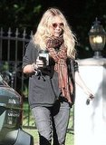 Mary-Kate Olsen Stays Connected and Caffeinated