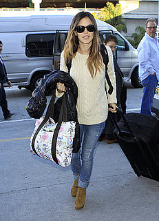Pictures of Rachel Bilson at LAX