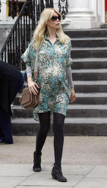Supermodel Claudia Schiffer added a third child, a baby girl named Cosima, to her growing family in May.