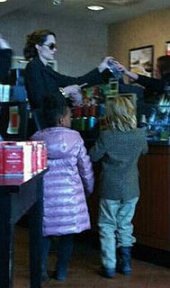 Pictures of Angelina Jolie With Shiloh and Zahara at Barnes and Noble in Missouri