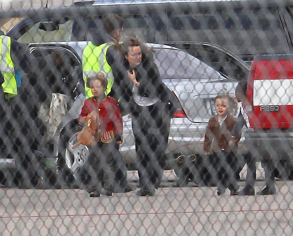 The Jolie-Pitts Jet Out of Missouri Following a Visit With Grandma and Grandpa!