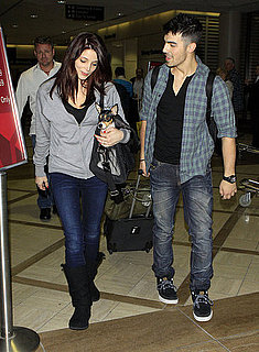 Pictures of Ashley Greene and Joe Jonas at LAX