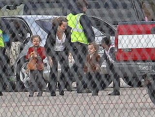 Pictures of Angelina Jolie at Airport With Shiloh and Zahara