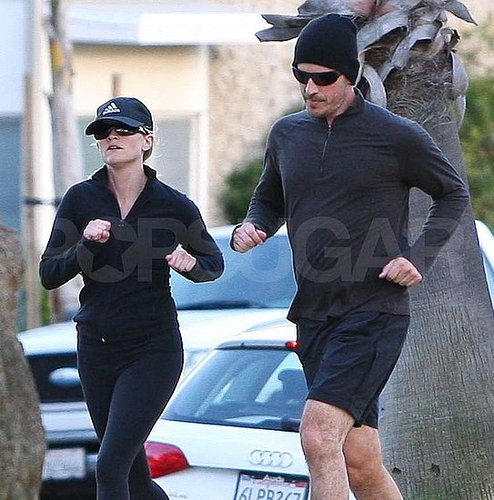 Pictures of Reese Witherspoon Running With Fiance Jim Toth