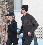 Newly Engaged Reese Takes Her Husband-to-Be For a Jog!