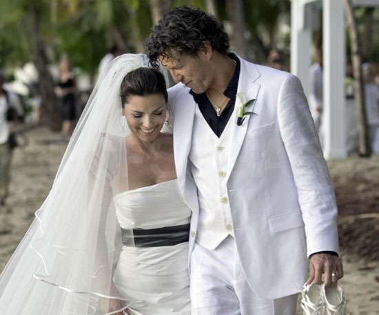 See Pictures of Shania Twain and Frédéric Thiébaud's Romantic Beach Wedding!