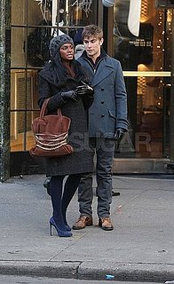 Pictures of Chace Crawford and Tika Sumpter on the Set of Gossip Girl in NYC