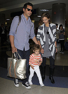 Pictures of Jessica Alba and Cash Warren With Honor at LAX